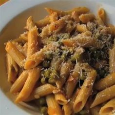 Penne Pasta with Peas and Prosciutto - Allrecipes.com