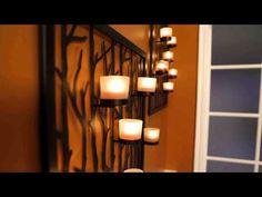 PartyLite Framework Lantern & Woodland Sconce