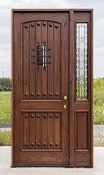 Teak Entry Door with 1 Sidelite