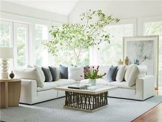 Best Farmhouse Living Room Furniture For Sale! Discover the best coffee tables, sofas, end tables, and more. White Sectional Sofa, Farmhouse Living Room Furniture, Types Of Sofas, Living Room Flooring, Living Rooms, Interior Decorating, Interior Design, Modular Sofa, Bedroom Sets