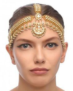 Golden Kundan Maatha Patti