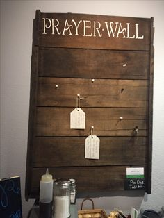 Not for prayer requests, but instead of bulletin board in foyer Prayer Wall, Prayer Room, Prayer Board, Church Lobby, Church Foyer, Kids Church Rooms, Youth Rooms, Church Welcome Center, Altar