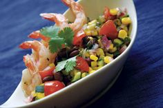 Sumptuous Summer... cucumber, corn and bean salsa