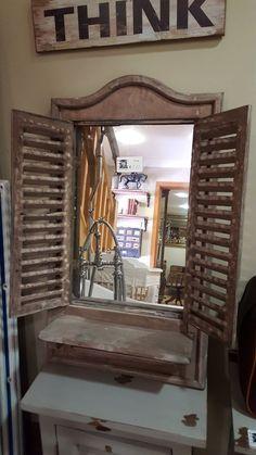 Mac's Warehouse Dublin - Salvage and Granite Shabby Chic Decor, Rustic Decor, Farmhouse Decor, Country Cabin Decor, Green Barn, Rustic Shutters, Beautiful Mirrors, Architectural Salvage, Small Bathroom