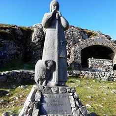 Nestled in a pass in the mountain range you will find the pilgrimage spot of At the site, which is dedicated to… Connemara, Mountain Range, Pilgrimage, Statue Of Liberty, Mount Rushmore, Ireland, Photo And Video, Mountains, Travel