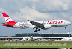 Austrian Airlines Boeing landing at Vienna-Schwechat May 8 2018 Austrian Airlines, Boeing Planes, Jet Airlines, Plane Photos, Passenger Aircraft, Boeing 777, Commercial Aircraft, World Pictures, Nose Art