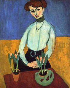 girl with tulips - #henrimatisse #앙리마티스