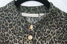 Animal print silk shirt, size 44