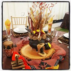 Traditional African Wedding Centerpieces And Decor. Www Regarding African Party Decorations - Best Home & Party Decoration Ideas African Party Theme, African Wedding Theme, African Weddings, Wedding Centerpieces, Wedding Table, Wedding Decorations, Table Decorations, Wedding Ideas, Centerpiece Ideas