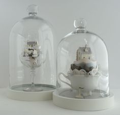 Cut paper terrariums by Helen Mussel White