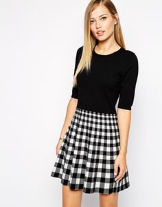 Enlarge Karen Millen Skater Dress in Check