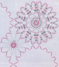 Салфетка из круглых мотивов крючком