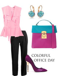 Dare to make bold colorful office combinations that highlight the refinement of your feminine style. You can wonderfully glow with elegance at work dressed in the perfect chic outfit next to Wild Inga's luxury leather accessories!