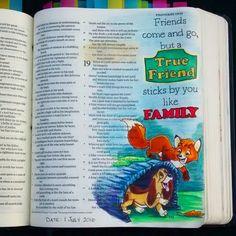 Bev Knaup bible journaling Proverbs 18:24