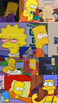 Emo Wallpaper, Simpson Wallpaper Iphone, Wallpaper Iphone Cute, Tumblr Wallpaper, Aesthetic Iphone Wallpaper, Cartoon Wallpaper, Screen Wallpaper, Wallpaper Quotes, Aesthetic Wallpapers