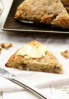 """Banana Walnut Scones  """"I love all the delicious brunch recipes from #BrunchWeek!""""  This Recipe is Vegan and Gluten Free!"""