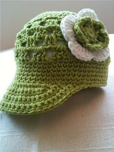 Projects on Craftsy: Crocheted Baby Visor/Newsboy Beanie from TD Patterns