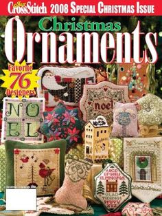 Just Cross Stitch Special Christmas Issue 2008: Need to do several ornaments out of this.