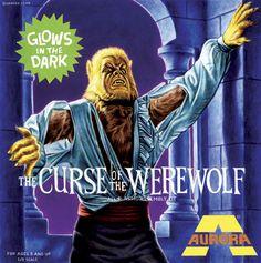 Fantasy Aurora 'Curse of the Werewolf' Box Art (c. 1971 box design)