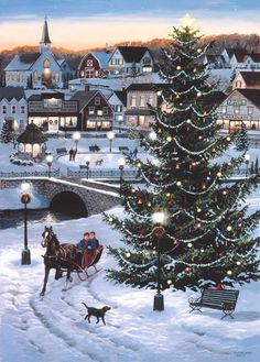 Leanin' Tree's scenic landscape Christmas cards feature the beauty of winter scenes and snow-capped mountains. Christmas Scenery, Christmas Villages, Christmas Love, Christmas Pictures, Beautiful Christmas, Winter Christmas, Outdoor Christmas, Christmas Trees, Merry Christmas