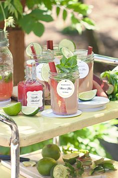 Vanilla Rhubarb Simple Syrup Recipe - perfect for Rhubarb Mojito Cocktails and Mocktails! Summer Drink Recipes, Summer Drinks, Cocktail Recipes, Cocktails, Rhubarb Mojito, Rhubarb Syrup, Mojito Recipe, Rhubarb Recipes, Smoothies