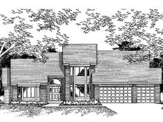 New American House Plan with 3069 Square Feet and 4 Bedrooms from Dream Home Source   House Plan Code DHSW38307