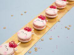 DIY-Anleitung: Einhorn-Macarons am Stiel backen via DaWanda.com