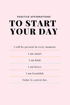 36 Positive Affirmations for Adults, Moms + Kids - Paisley + Sparrow - - We all have days where we feel down. Here's a few lists of positive affirmations to tell yourself (and your kids!) when you need a pick me up. Bookmark this. Positive Self Affirmations, Positive Affirmations Quotes, Morning Affirmations, Affirmation Quotes, Positive Vibes, Christian Affirmations, Positive Mantras, Positive Morning Quotes, Being Positive