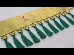 Beading 2020 – The Best Beading Ideas Are Here Saree Tassels Designs, Saree Kuchu Designs, Blouse Designs, Tassel Jewelry, Beaded Jewelry, Embroidery Stitches, Hand Embroidery, Back Neck Designs, Indian Dresses