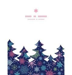 Snowflakes on night sky christmas snowflake vector by Oksancia on VectorStock®