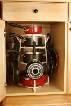 Pots & pans storage $20 on pantree.com and Amazon, thissss isss neatt