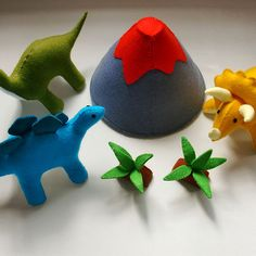 Felt dinosaur patterns