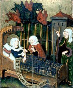 Tod der Hl. Martha 1460-1470; Neustift; Italien; Südtirol; Stiftsgalerie  http://tarvos.imareal.oeaw.ac.at/server/images/7004074.JPG