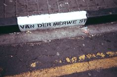 Black and white pavement on Van Der Merwe street in Johannesburg