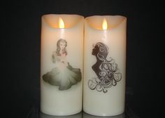Virgo August 22 ~ September 23 Beautiful flameless pillar candles adorned with Lady Virgo and the Virgin. Flameless Candles, Pillar Candles, August 22, Virgo, Lady, Beautiful, Virgos, Taper Candles, Candles