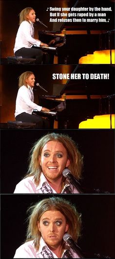 Tim Minchin- ditching political correctness & using humour to break taboo and draw attention to the issues we are too uncomfortable to address. Love ya Tim!