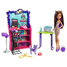 Monster High Clawesome Pet Salon Playset With Doll