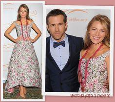 Blake Lively de Oscar de la Renta en el 2013 A Funny Thing Happened On The Way To Cure Parkinson's Event