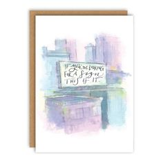 Looking for A Sign Greeting Card