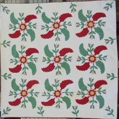 Jeff Bridgman Antique Flags and Painted Furniture - RED & WHITE ... : marie miller quilts - Adamdwight.com