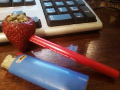 #Strawberry #Pipe #Happy420 #CannabisCures ~PinDiv@~
