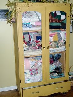 quilt cabinet | my home | pinterest | quilt display and quilt storage
