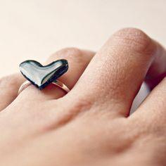 Black Heart Ring