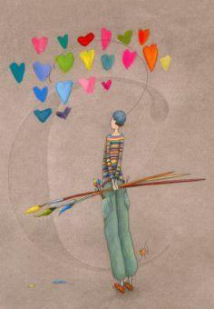 Pinceaux de cœurs