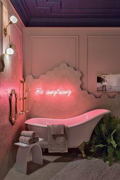 Home Decor Ideas Interior Design .Home Decor Ideas Interior Design Bühnen Design, House Design, Pink Design, Light Design, Cafe Design, Aesthetic Room Decor, Pink Aesthetic, Bathroom Interior, Bathroom Inspo