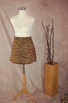 La Maison De La Fausse Fourrure Mini Skirt S Leopard Print Faux Fur