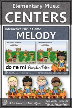 Elementary Music Game! Perfect for your elementary music lesson plans working with melody and do re mi! Great for music centers, whole group or online instruction for 1st/2nd/3rd grade. Engaging game for October/Halloween or anytime! Music Education Activities, Elementary Music Lessons, Music Classroom, Music Teachers, Music Lesson Plans, Teaching Music, October, Game, Halloween