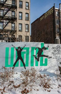 Influx in Flux connects teenagers with working artists to create murals in various locations in the East Village. Amazing Street Art, Amazing Art, New York Street Art, East Village, Optical Illusions, Graffiti, Artist, Street, Urban