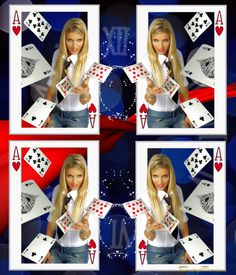 Playing Cards ❤ - made by BabySavira Mababe with Bazaart #collage