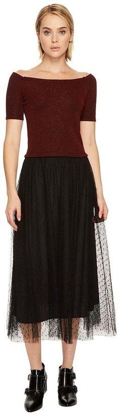 RED Valentino Striped Jersey Lurex Dress Women's Dress